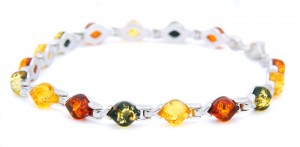 Three Colours Amber Bracelet