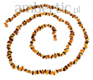 Long mixed colors amber necklace